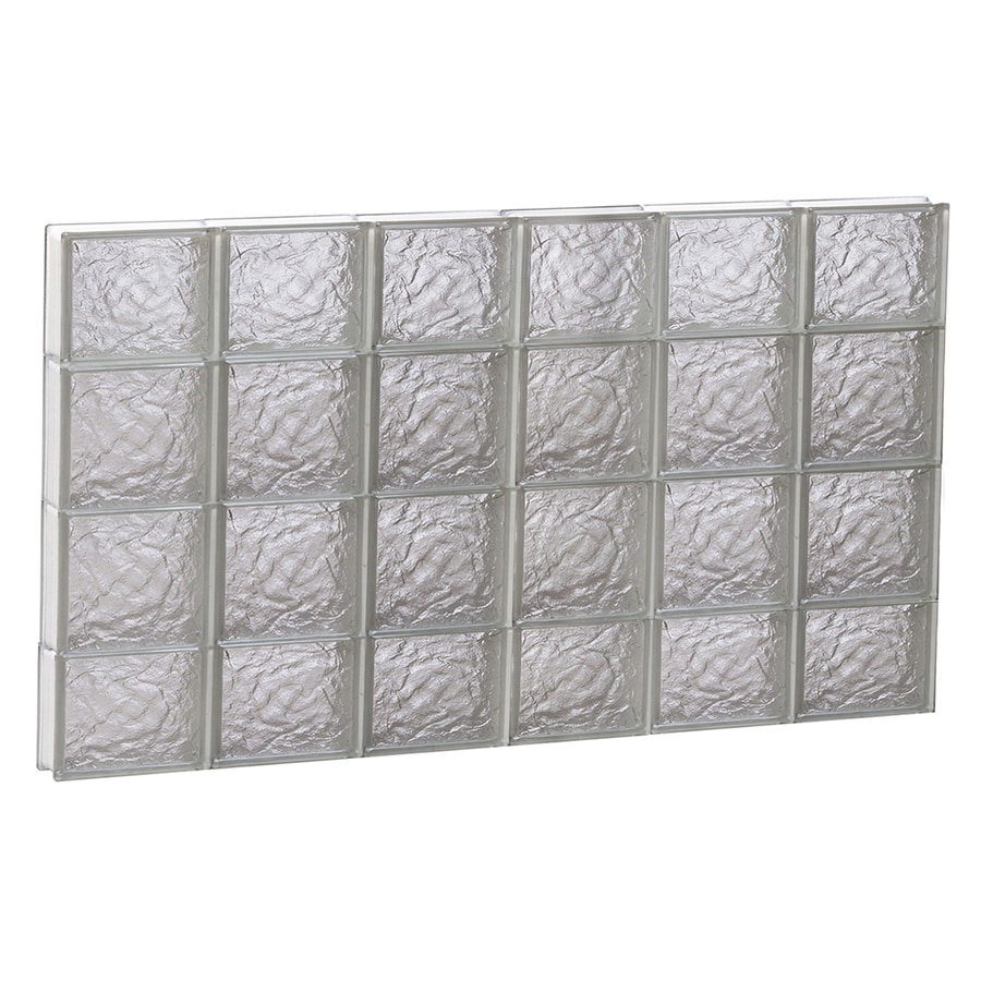 REDI2SET Ice Glass Pattern Frameless Replacement Block Window (Rough Opening: 48-in x 28-in; Actual: 46.5-in x 27-in)