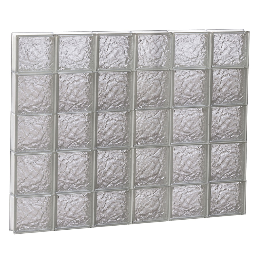 REDI2SET Ice Glass Pattern Frameless Replacement Block Window (Rough Opening: 48-in x 36-in; Actual: 46.5-in x 34.75-in)