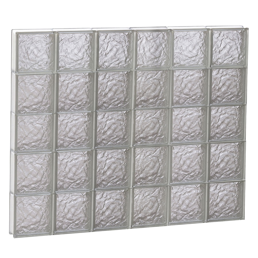 REDI2SET Ice Glass Pattern Frameless Replacement Block Window (Rough Opening: 48-in x 40-in; Actual: 46.5-in x 38.75-in)