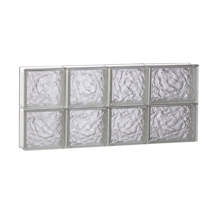 REDI2SET Ice Glass Pattern Frameless Replacement Glass Block Window (Rough Opening: 26-in x 12-in; Actual: 25-in x 11.5000-in)
