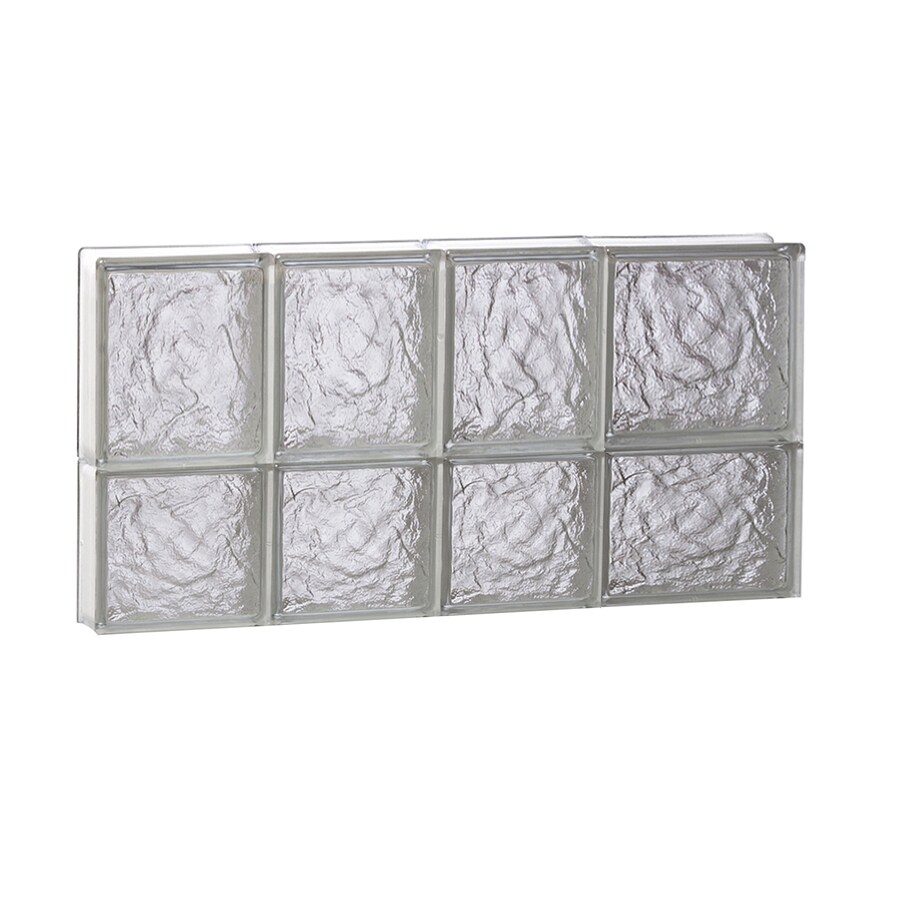 REDI2SET Ice Glass Pattern Frameless Replacement Block Window (Rough Opening: 26-in x 14-in; Actual: 25-in x 13.5-in)