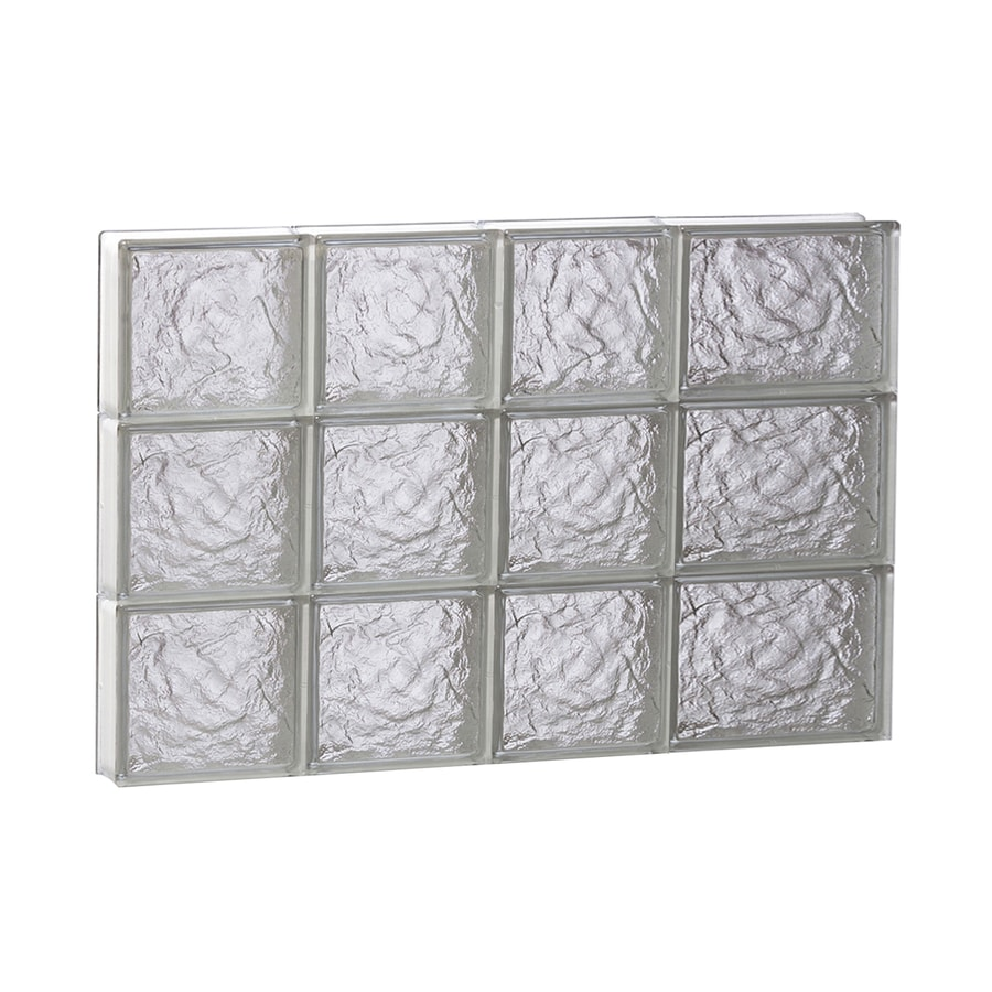 REDI2SET Ice Pattern Frameless Replacement Glass Block Window (Rough Opening: 26-in x 18-in; Actual: 25-in x 17.25-in)