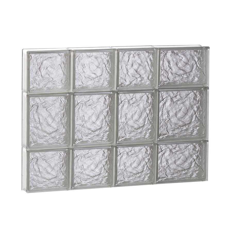 REDI2SET Ice Glass Pattern Frameless Replacement Block Window (Rough Opening: 26-in x 20-in; Actual: 25-in x 19.25-in)