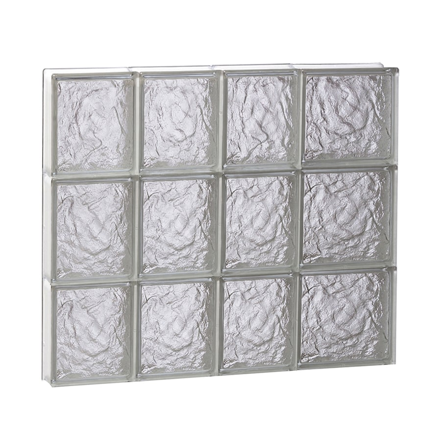 REDI2SET Ice Pattern Frameless Replacement Glass Block Window (Rough Opening: 26-in x 24-in; Actual: 25-in x 23.25-in)