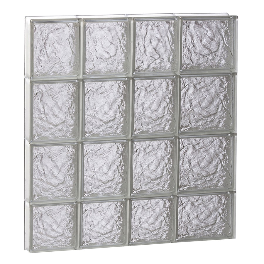 REDI2SET Ice Glass Pattern Frameless Replacement Block Window (Rough Opening: 26-in x 30-in; Actual: 25-in x 29-in)