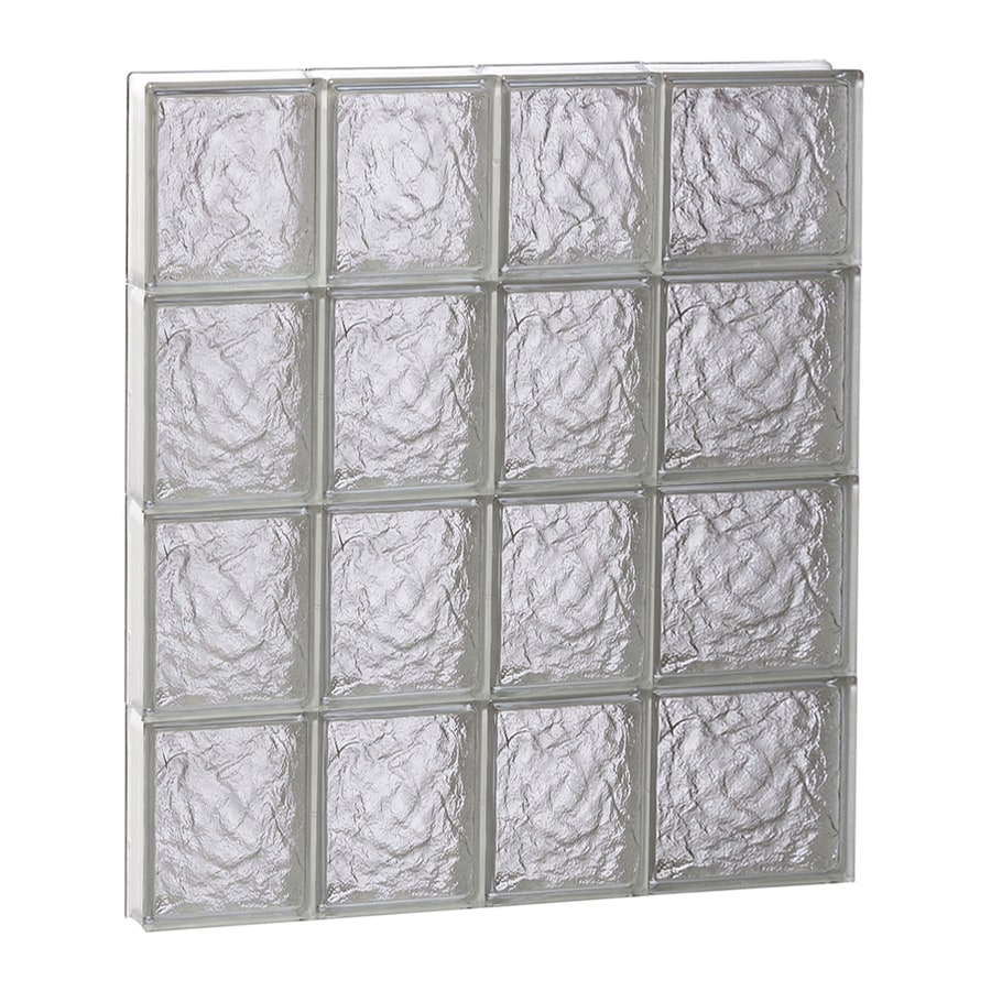 REDI2SET Ice Glass Pattern Frameless Replacement Block Window (Rough Opening: 26-in x 32-in; Actual: 25-in x 31-in)
