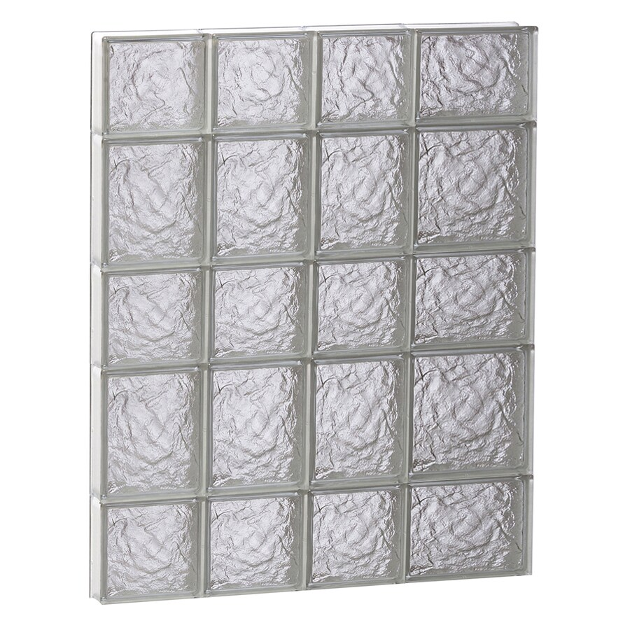 REDI2SET Ice Pattern Frameless Replacement Glass Block Window (Rough Opening: 26-in x 34-in; Actual: 25-in x 32.75-in)