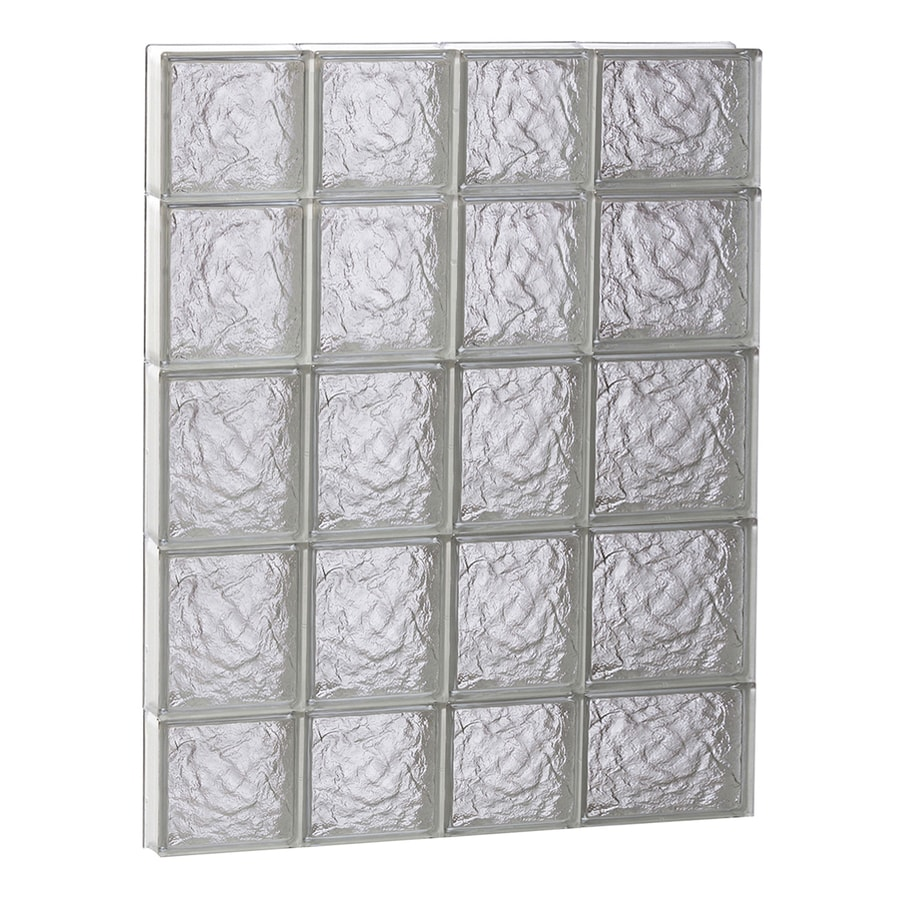 REDI2SET Ice Glass Pattern Frameless Replacement Block Window (Rough Opening: 26-in x 36-in; Actual: 25-in x 34.75-in)