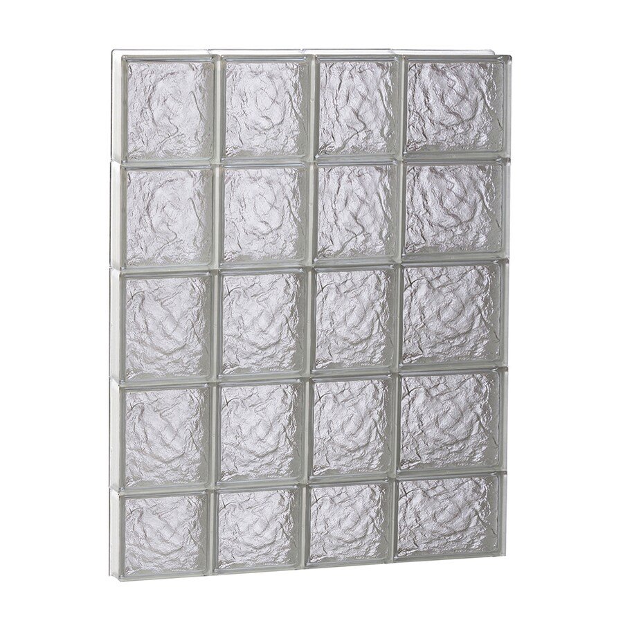 REDI2SET Ice Glass Pattern Frameless Replacement Block Window (Rough Opening: 26-in x 38-in; Actual: 25-in x 36.75-in)