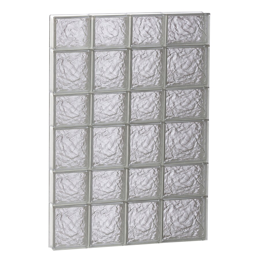 REDI2SET Ice Glass Pattern Frameless Replacement Glass Block Window (Rough Opening: 26-in x 42-in; Actual: 25-in x 40.5000-in)