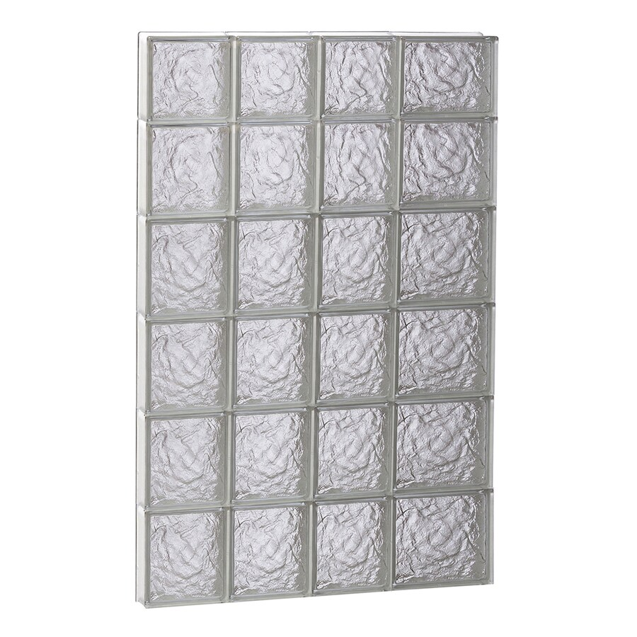 REDI2SET Ice Glass Pattern Frameless Replacement Block Window (Rough Opening: 26-in x 46-in; Actual: 25-in x 44.5-in)