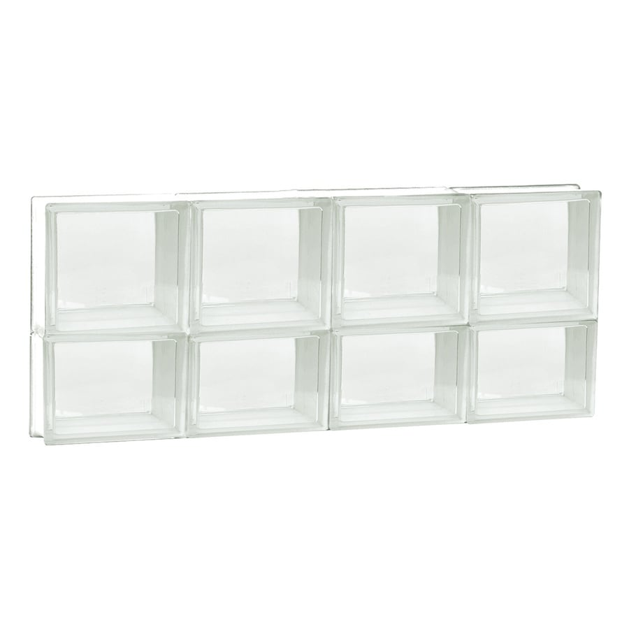 REDI2SET Clear Frameless Replacement Glass Block Window (Rough Opening: 32-in x 14-in; Actual: 31-in x 13.5-in)