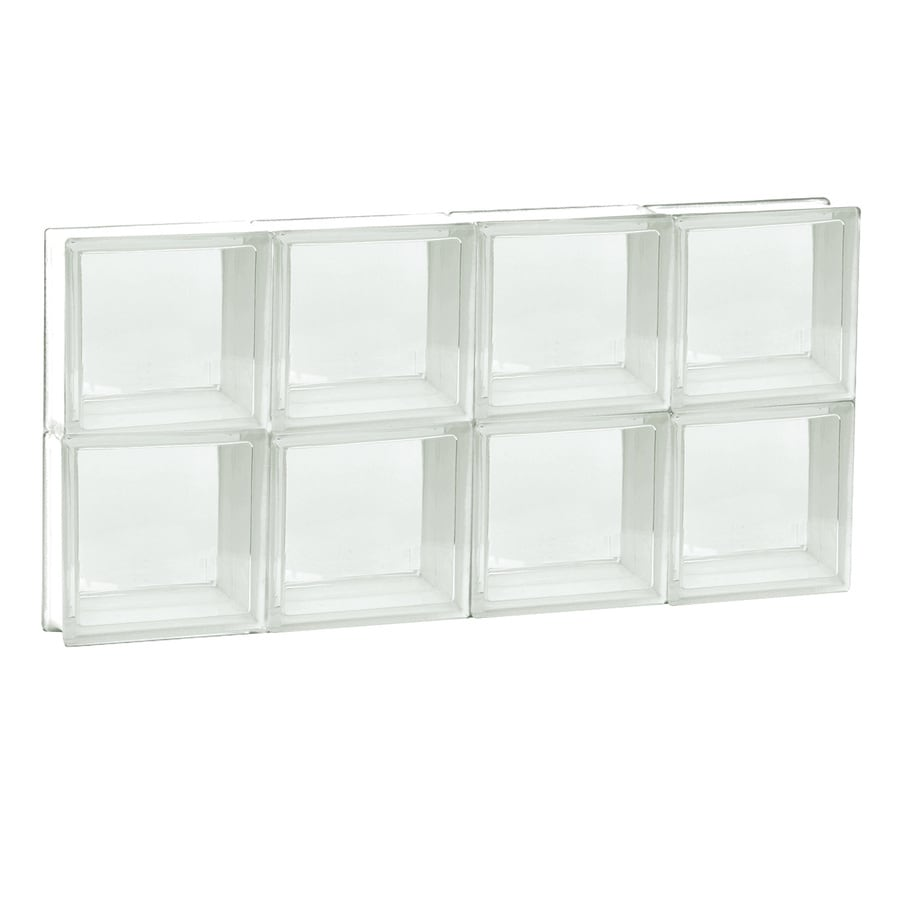 REDI2SET Clear Glass Pattern Frameless Replacement Glass Block Window (Rough Opening: 32-in x 16-in; Actual: 31-in x 15.5-in)