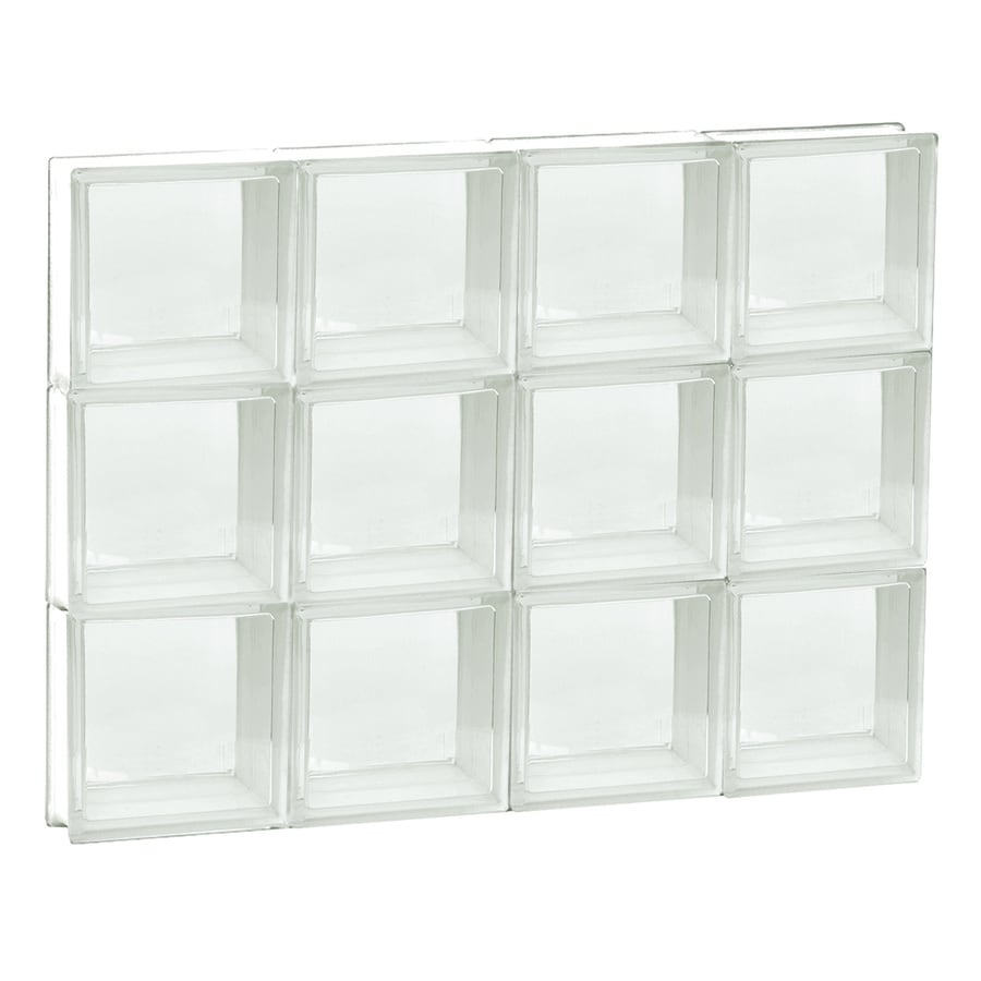 REDI2SET Clear Glass Pattern Frameless Replacement Glass Block Window (Rough Opening: 32-in x 24-in; Actual: 31-in x 23.2500-in)
