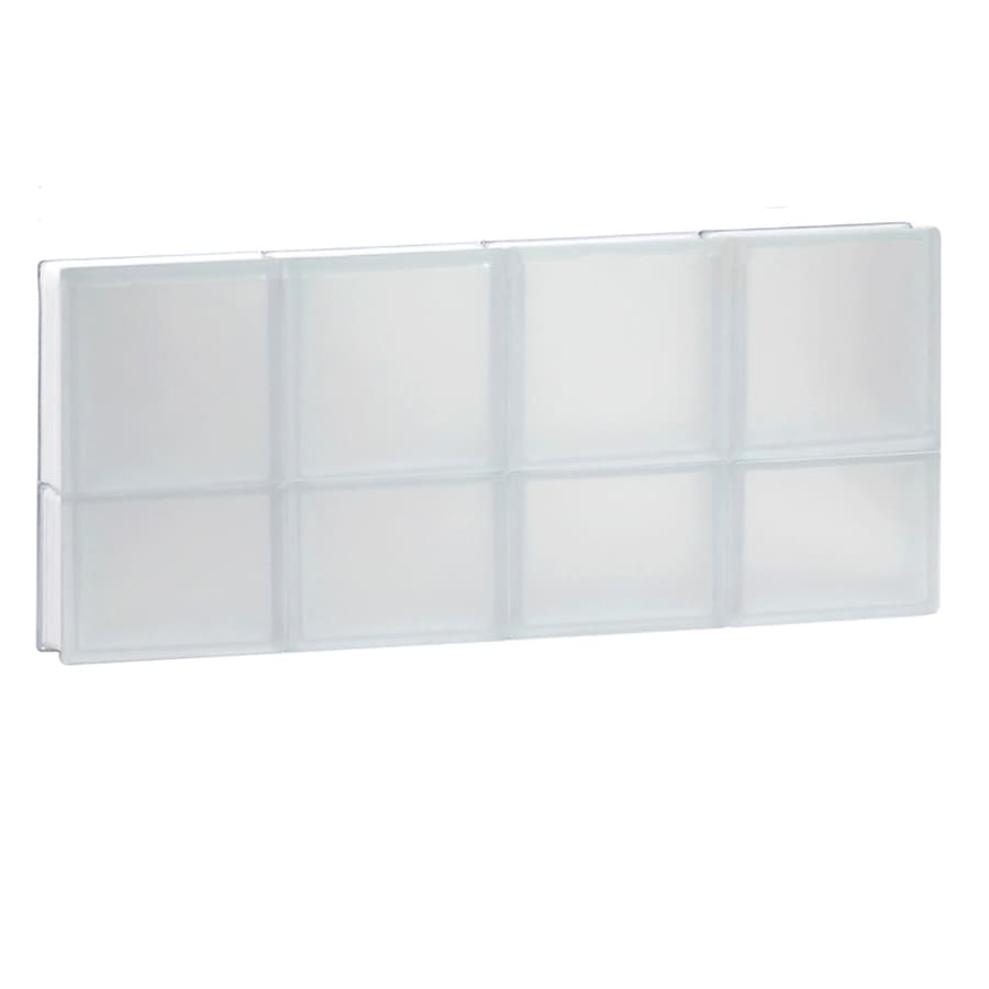 REDI2SET Frosted Frameless Replacement Glass Block Window (Rough Opening: 32-in x 14-in; Actual: 31-in x 13.5-in)
