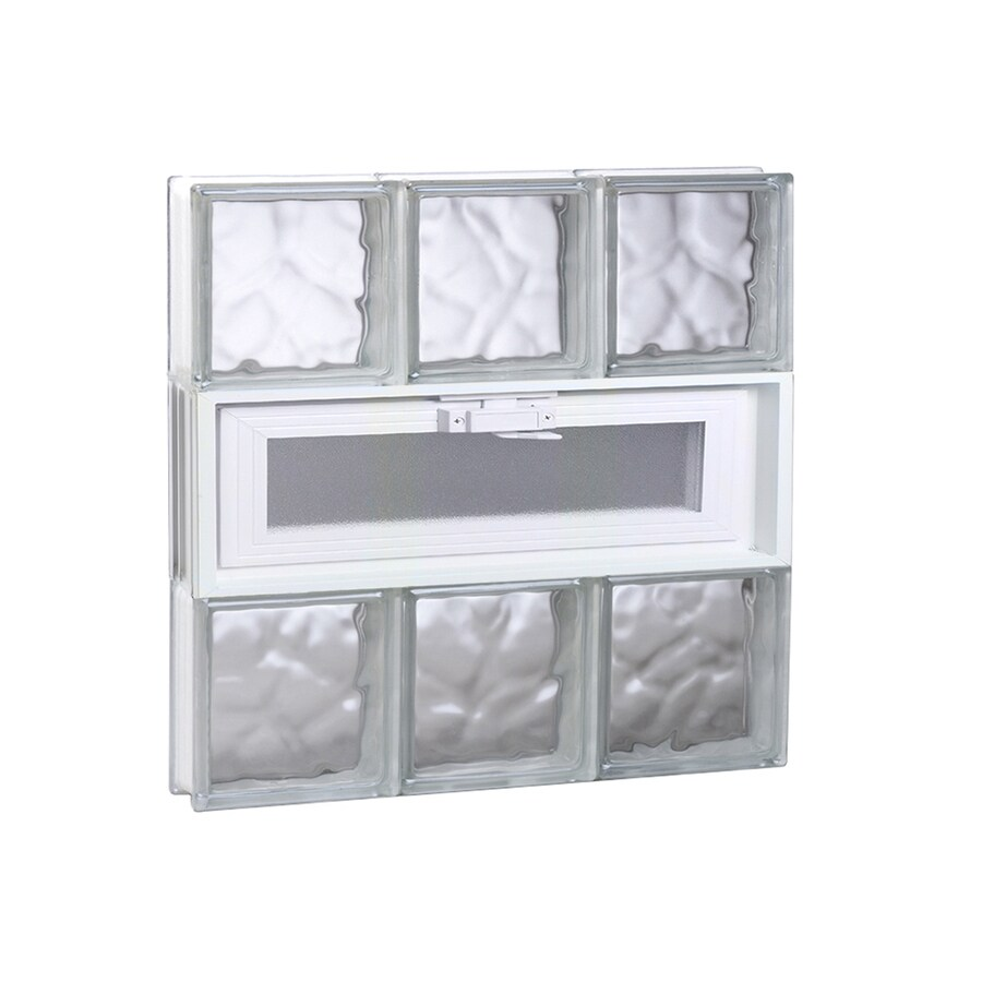 REDI2SET Wavy Glass Pattern Frameless Replacement Glass Block Window (Rough Opening: 18-in x 18-in; Actual: 17.25-in x 17.25-in)