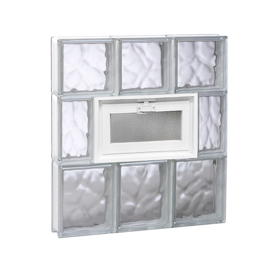 REDI2SET Wavy Glass Pattern Frameless Replacement Glass Block Window (Rough Opening: 18-in x 22-in; Actual: 17.25-in x 21.25-in)