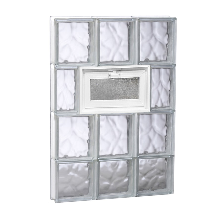 REDI2SET Wavy Glass Pattern Frameless Replacement Glass Block Window (Rough Opening: 18-in x 30-in; Actual: 17.25-in x 29-in)