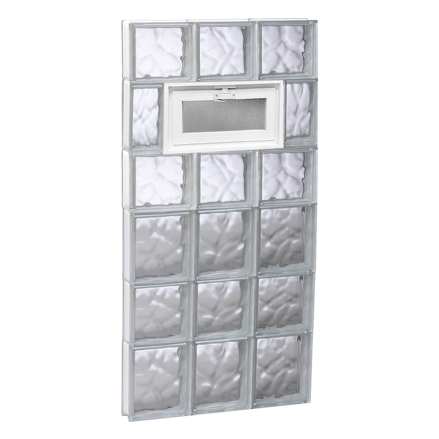 REDI2SET Wavy Pattern Frameless Replacement Glass Block Window (Rough Opening: 18-in x 42-in; Actual: 17.25-in x 40.5-in)
