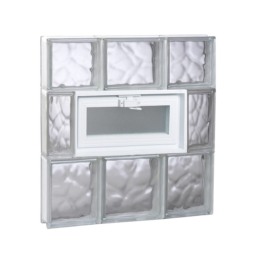 REDI2SET Wavy Glass Pattern Frameless Replacement Glass Block Window (Rough Opening: 20-in x 22-in; Actual: 19.25-in x 21.25-in)
