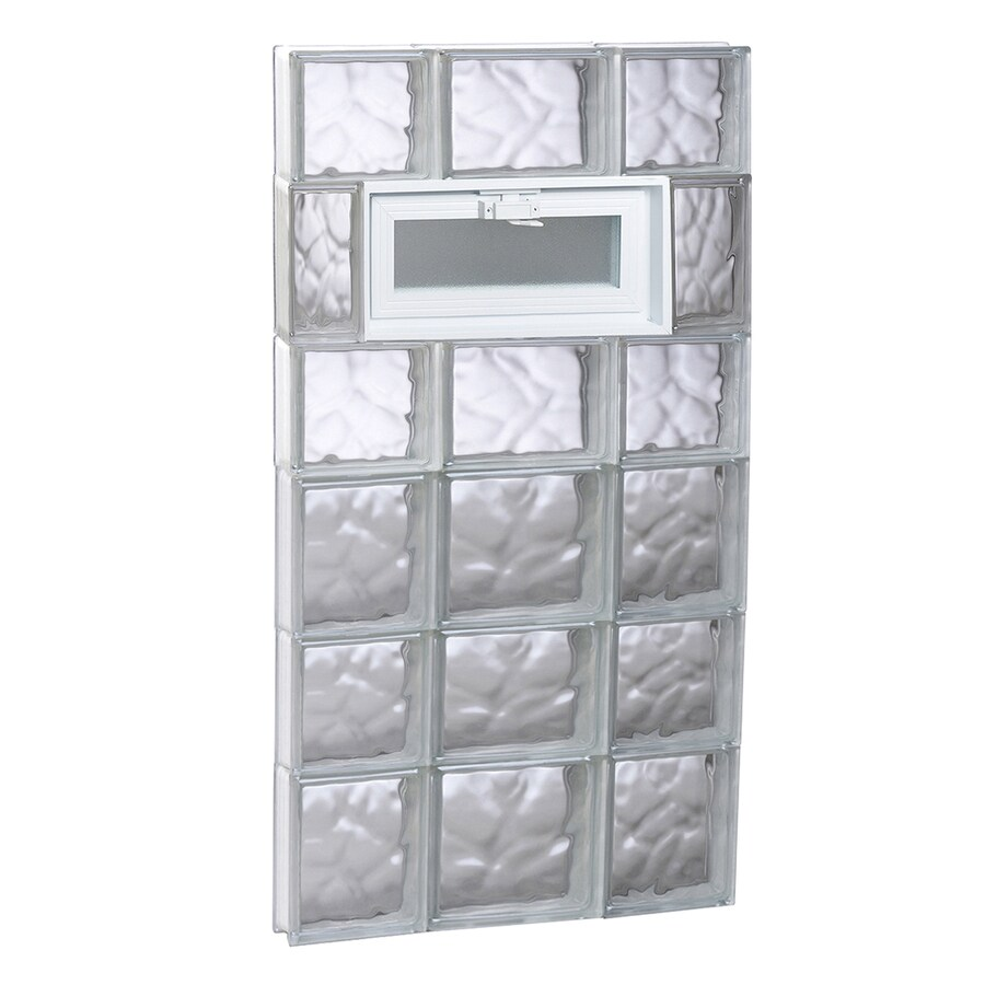 REDI2SET Wavy Glass Pattern Frameless Replacement Glass Block Window (Rough Opening: 20-in x 42-in; Actual: 19.25-in x 40.5-in)