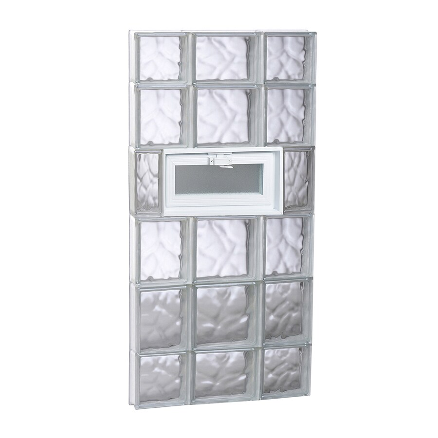 REDI2SET Wavy Glass Pattern Frameless Replacement Glass Block Window (Rough Opening: 20-in x 44-in; Actual: 19.25-in x 42.5-in)
