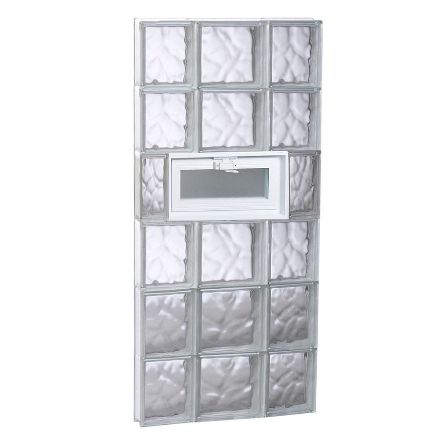 REDI2SET Wavy Glass Pattern Frameless Replacement Glass Block Window (Rough Opening: 20-in x 48-in; Actual: 19.25-in x 46.5-in)