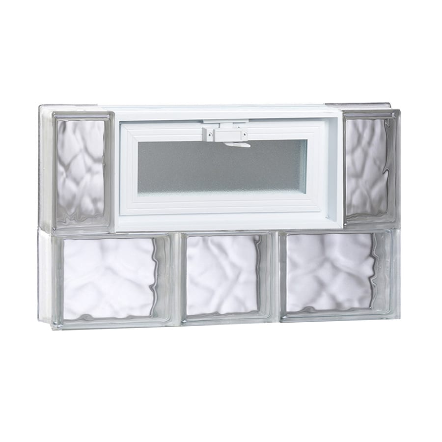 REDI2SET Wavy Glass Pattern Frameless Replacement Glass Block Window (Rough Opening: 22-in x 14-in; Actual: 21.2500-in x 13.5000-in)