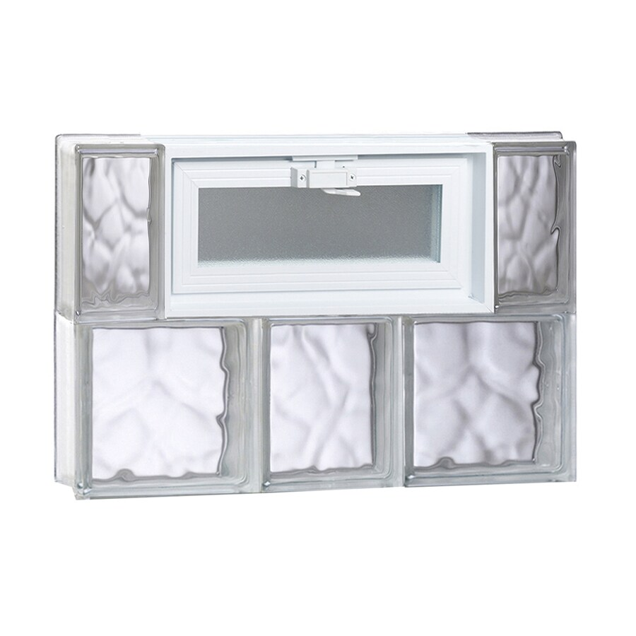 REDI2SET Wavy Glass Pattern Frameless Replacement Glass Block Window (Rough Opening: 22-in x 16-in; Actual: 21.25-in x 15.5-in)