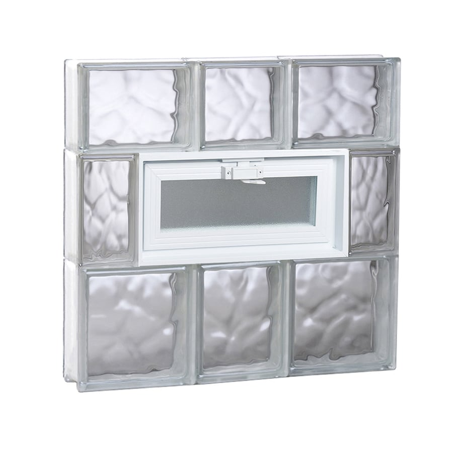 REDI2SET Wavy Glass Pattern Frameless Replacement Glass Block Window (Rough Opening: 22-in x 22-in; Actual: 21.25-in x 21.25-in)