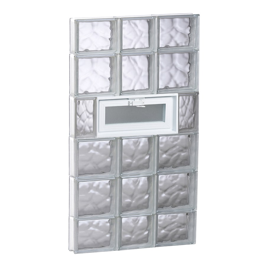 REDI2SET Wavy Glass Pattern Frameless Replacement Glass Block Window (Rough Opening: 22-in x 44-in; Actual: 21.2500-in x 42.5000-in)