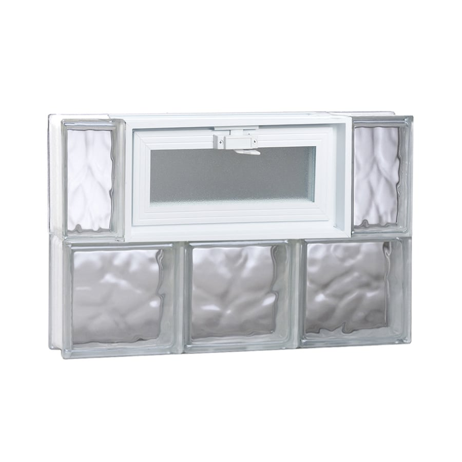 Shop redi2set wavy glass pattern frameless replacement for 16 x 24 window
