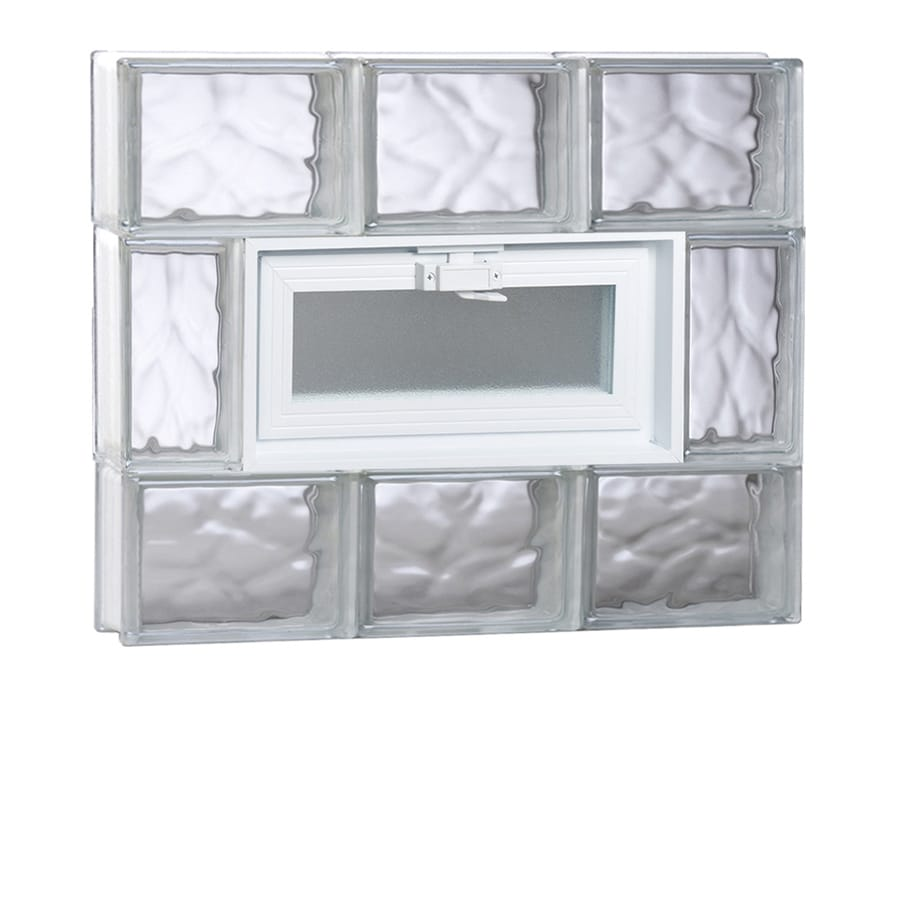 REDI2SET Wavy Glass Pattern Frameless Replacement Glass Block Window (Rough Opening: 24-in x 20-in; Actual: 23.25-in x 19.25-in)