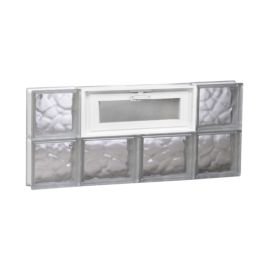 REDI2SET Wavy Pattern Frameless Replacement Glass Block Window (Rough Opening: 28-in x 12-in; Actual: 27-in x 11.5-in)