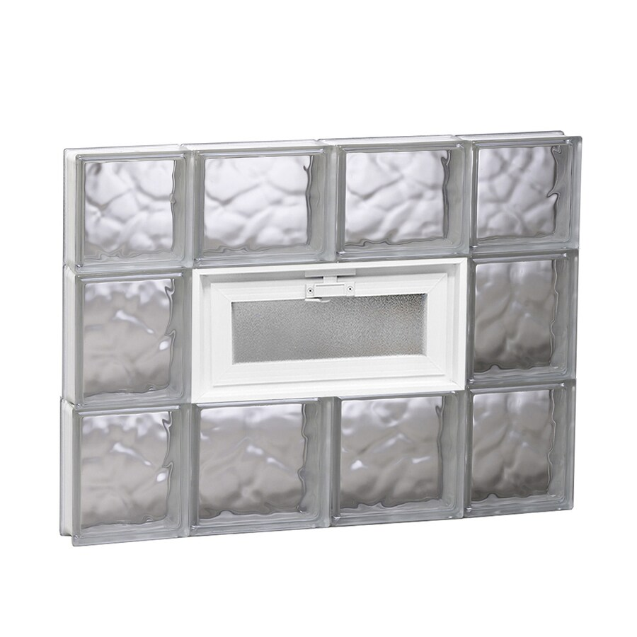 REDI2SET Wavy Pattern Frameless Replacement Glass Block Window (Rough Opening: 28-in x 22-in; Actual: 27-in x 21.25-in)