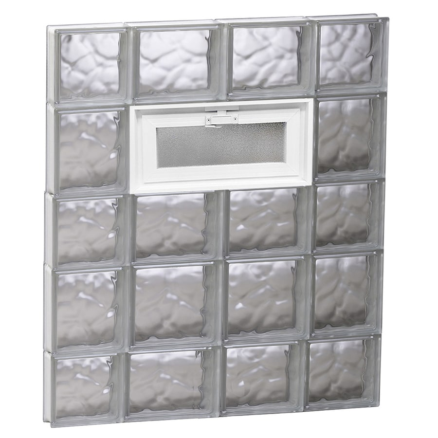 REDI2SET Wavy Pattern Frameless Replacement Glass Block Window (Rough Opening: 28-in x 34-in; Actual: 27-in x 32.75-in)