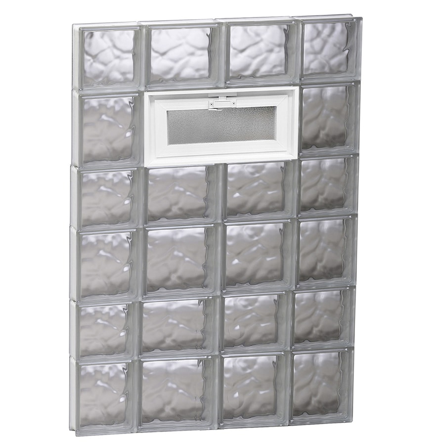 REDI2SET Wavy Pattern Frameless Replacement Glass Block Window (Rough Opening: 28-in x 42-in; Actual: 27-in x 40.5-in)