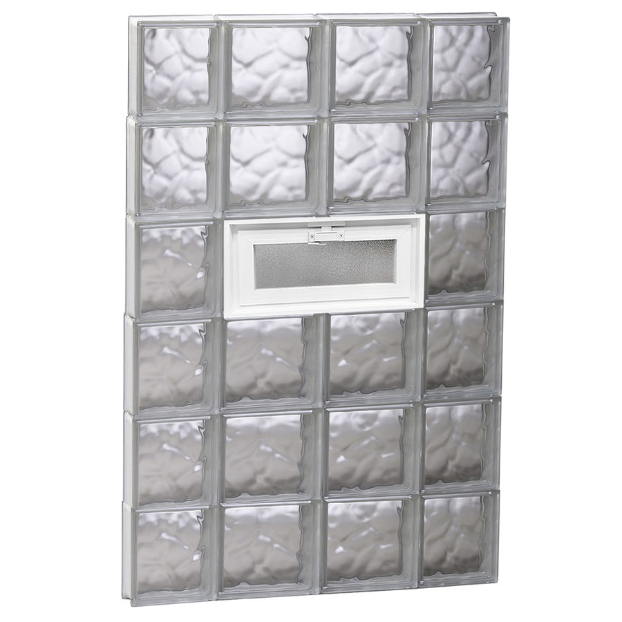 REDI2SET Wavy Glass Pattern Frameless Replacement Glass Block Window (Rough Opening: 28-in x 48-in; Actual: 27-in x 46.5-in)
