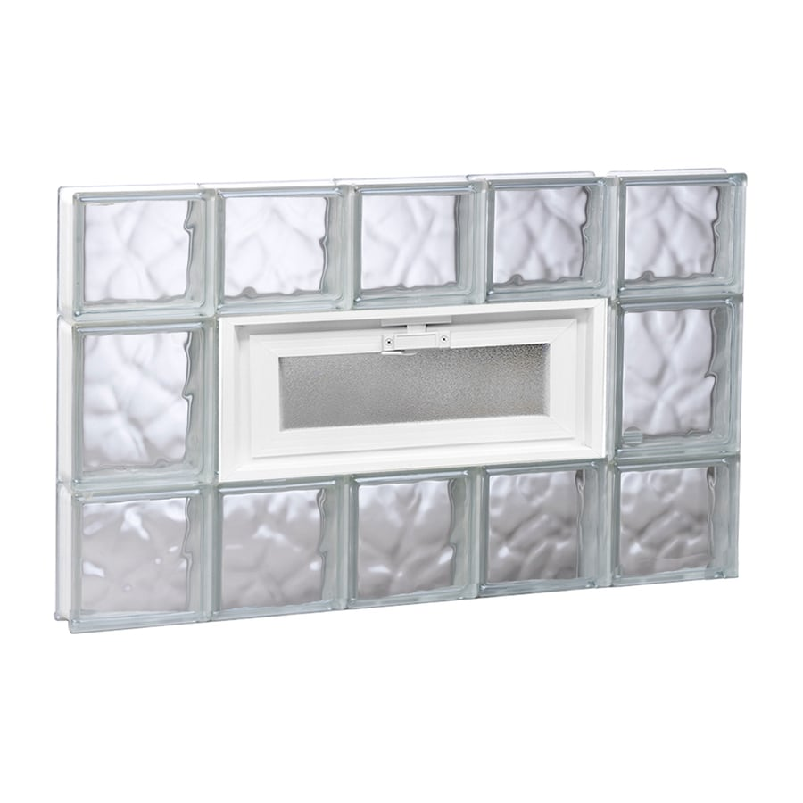 REDI2SET Wavy Glass Pattern Frameless Replacement Glass Block Window (Rough Opening: 30-in x 20-in; Actual: 28.7500-in x 19.2500-in)