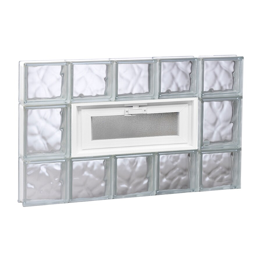 REDI2SET Wavy Glass Pattern Frameless Replacement Glass Block Window (Rough Opening: 30-in x 20-in; Actual: 28.75-in x 19.25-in)