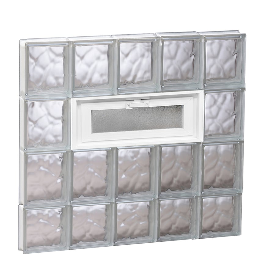 REDI2SET Wavy Glass Pattern Frameless Replacement Glass Block Window (Rough Opening: 30-in x 30-in; Actual: 28.75-in x 29-in)