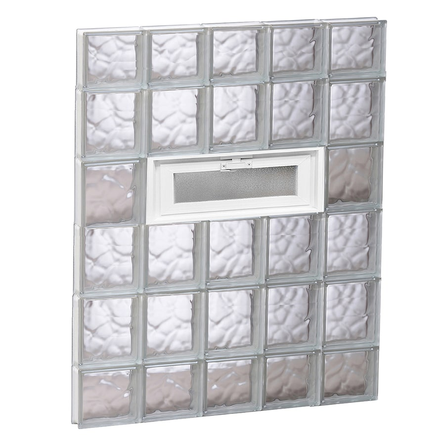REDI2SET Wavy Pattern Frameless Replacement Glass Block Window (Rough Opening: 30-in x 44-in; Actual: 28.75-in x 42.5-in)
