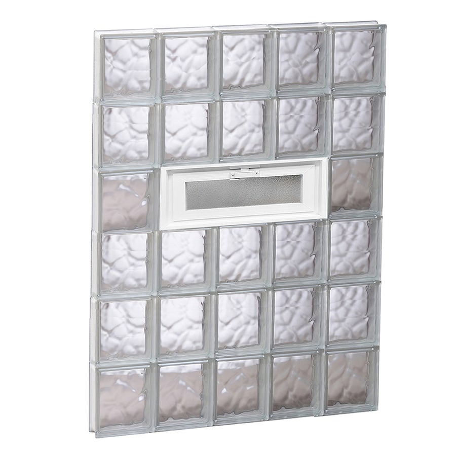 REDI2SET Wavy Glass Pattern Frameless Replacement Glass Block Window (Rough Opening: 30-in x 48-in; Actual: 28.75-in x 46.5-in)