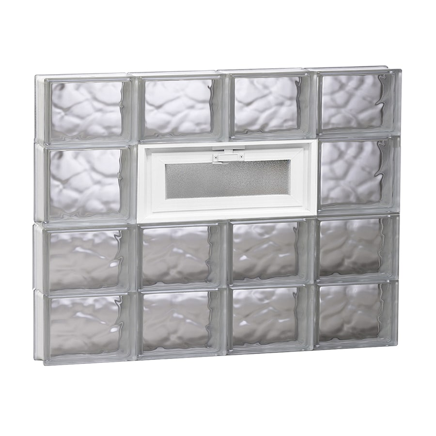 REDI2SET Wavy Pattern Frameless Replacement Glass Block Window (Rough Opening: 32-in x 26-in; Actual: 31-in x 25-in)