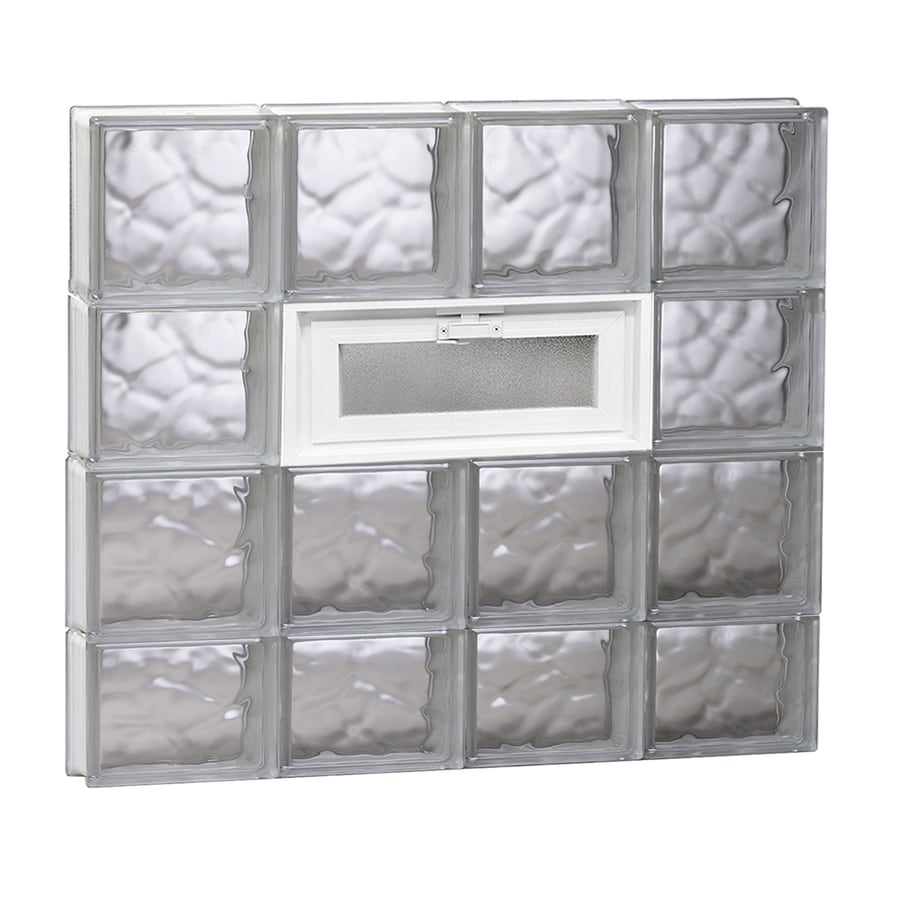 REDI2SET Wavy Glass Pattern Frameless Replacement Glass Block Window (Rough Opening: 32-in x 30-in; Actual: 31-in x 29-in)