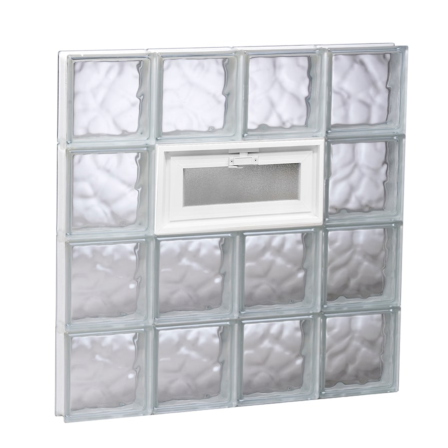 REDI2SET Wavy Glass Pattern Frameless Replacement Glass Block Window (Rough Opening: 31.5-in x 31.5-in; Actual: 31-in x 31-in)