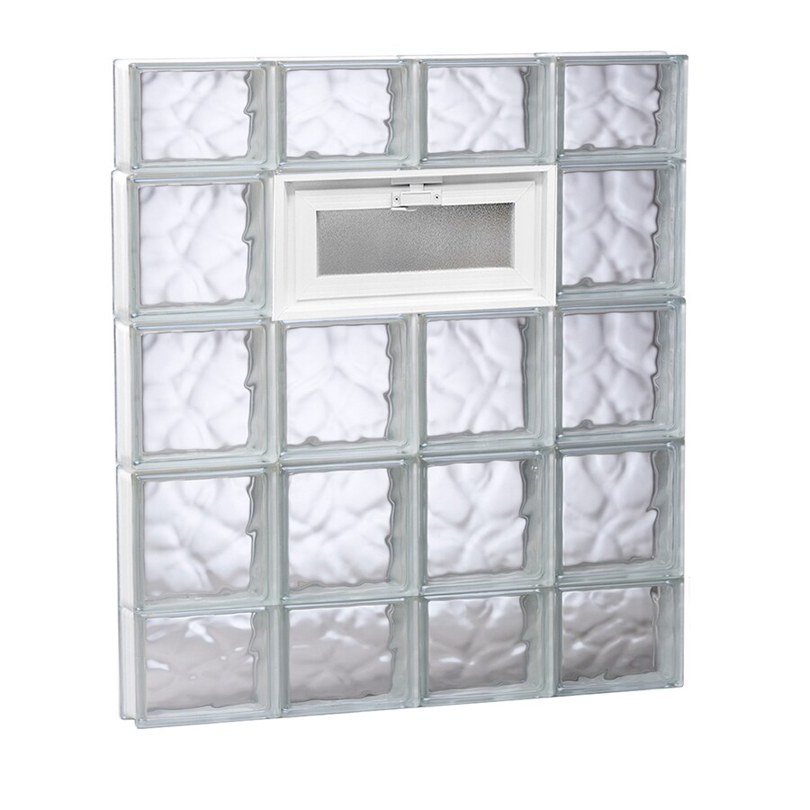REDI2SET Wavy Glass Pattern Frameless Replacement Glass Block Window (Rough Opening: 32-in x 36-in; Actual: 31-in x 34.75-in)