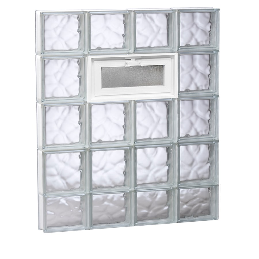 REDI2SET Wavy Glass Pattern Frameless Replacement Glass Block Window (Rough Opening: 32-in x 38-in; Actual: 31-in x 36.75-in)