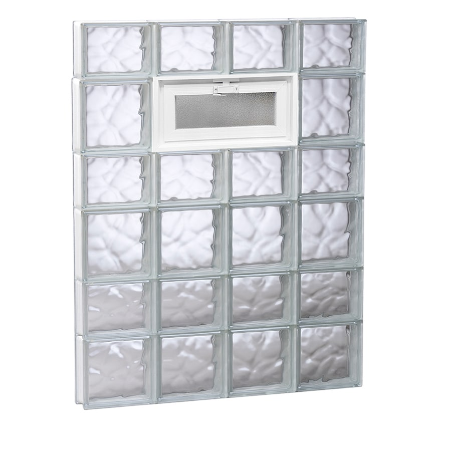 REDI2SET Wavy Pattern Frameless Replacement Glass Block Window (Rough Opening: 32-in x 42-in; Actual: 31-in x 40.5-in)