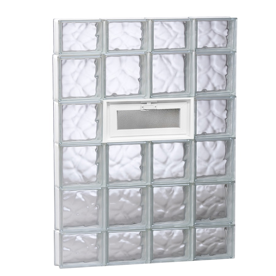 REDI2SET Wavy Glass Pattern Frameless Replacement Glass Block Window (Rough Opening: 32-in x 44-in; Actual: 31-in x 42.5-in)